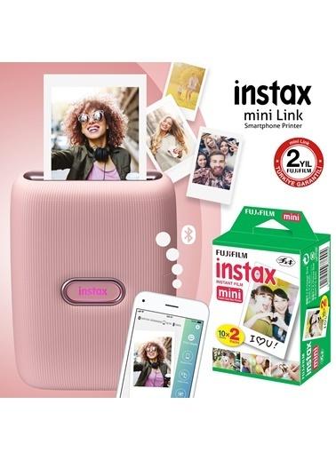 Fujifilm Instax mini Link Pembe Akıllı Telefon Yazıcısı ve 20'li mini Film Pembe